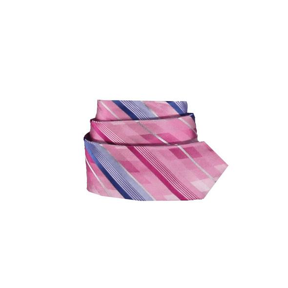 Stilvolle Seidenkrawatte mit mehrfarbiger Streifenmusterung
