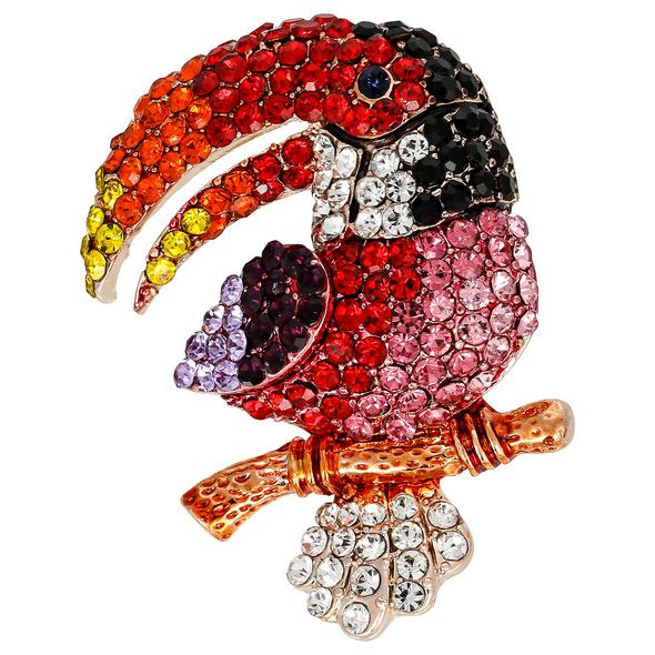 Brosche - Exotic Bird