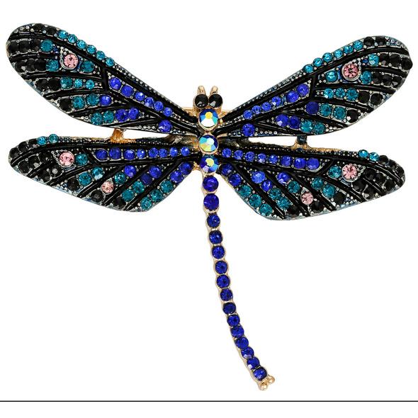 Brosche - Blue Dragonfly