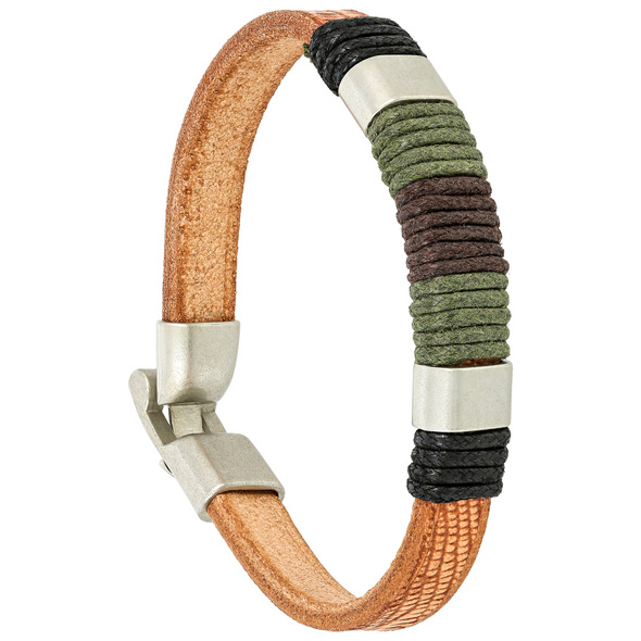 Herren Armband - Leather Whril