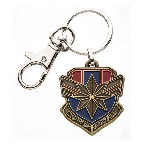 Captain Marvel - Schlüsselanhänger Metall Logo