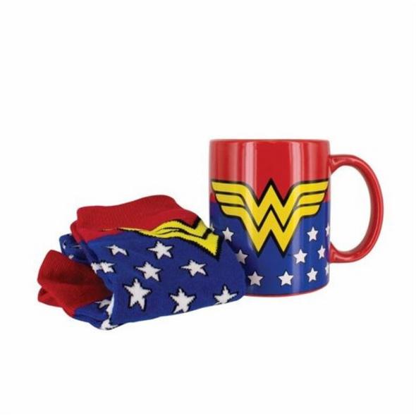 DC Comics Wonder Woman - Geschenkset Socken + Tasse