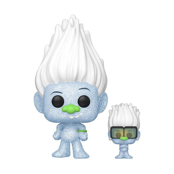 Trolls:World Tour - POP!-Vinyl Figur Guy Diamond with Tiny (Glitter)