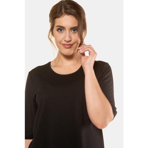 T-Shirt, Seitenschlitze, Rundhals, Elasthan, selection
