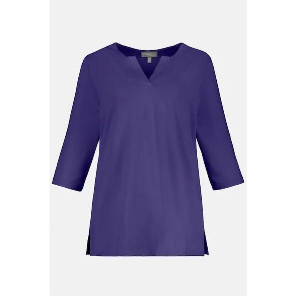 Shirt, Classic, Tunika-Ausschnitt, 3/4-Arm