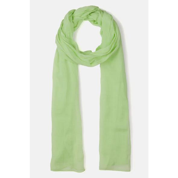 Schal, einfarbig, angenehm leicht, Biobaumwolle