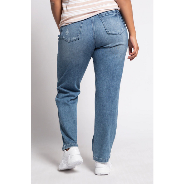 Boyfriend-Jeans, Destroy-Effekte, Komfortbund
