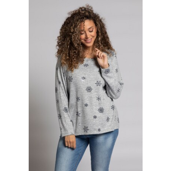 Pullover, Sternenmuster, Langarm