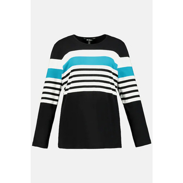 Shirt, Ringel, Regular, Langarm, reine Baumwolle