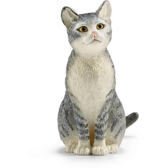 Schleich 13771 - Farm World, Katze, sitzend, Tierfigur