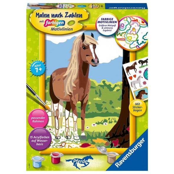 Ravensburger 28515 - Malen nach Zahlen, Pferdeglück, MNZ, Malset