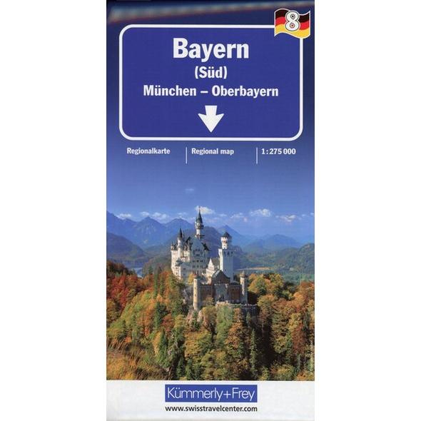 KuF Deutschland Regionalkarte 08. Bayern Süd - München Oberbayern 1 : 275 000