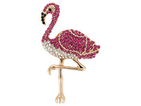 Brosche - Cute Flamingo