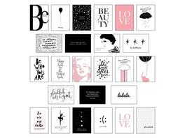 Schönes Postkarten Set mit 25 modernen und stylishen Postkarten